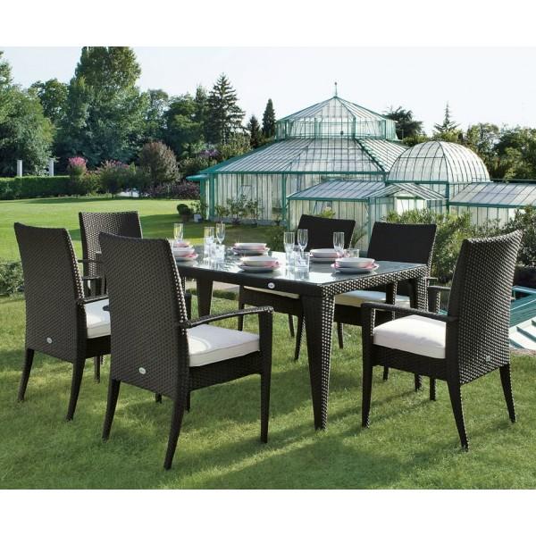 Arredi giardino set tavolo da pranzo twist in wicker king - Rattan giardino ...