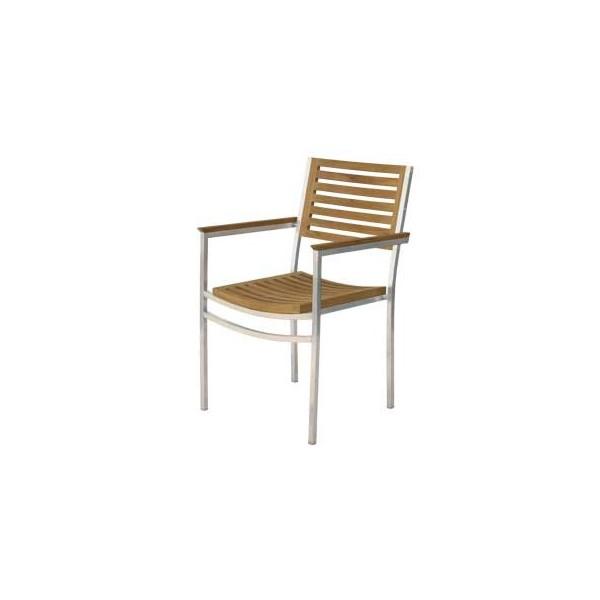 Arredi giardino poltrona centenary in teak acciaio - Tavolo con sedie dwg ...