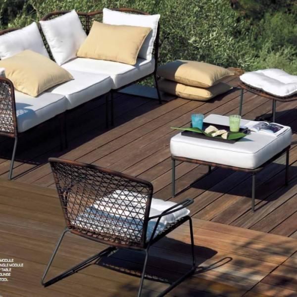 Arredi giardino salotto malib componibile vermobil for Arredo giardino rattan outlet